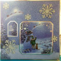 "Christmas Card (6) - 8""x8"" - makings from Hunkydory 'Snowy Season'"