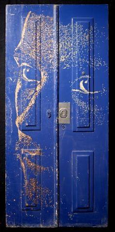 ghost image on door from frontdoorfreak.com