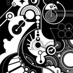 MWM Graphics | Matt W. Moore Geometric Painting, Geometric Art, Geometric Designs, Graphic Design Illustration, Illustration Art, Mechanical Art, Fish Drawings, Basic Drawing, Composition Design
