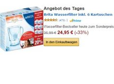 """Brita: Wasserfilter Marella Cool mit sechs Kartuschen für 24,95 Euro https://www.discountfan.de/artikel/essen_und_trinken/brita-wasserfilter-marella-cool-24-95-euro.php Die besten Kaffeebohnen und der edelste Tee schmecken nicht, wenn das Wasser zu verkalkt oder verchlort ist. Abhilfe schaffen hier Wasserfilter wie der """"Brita Marella Cool"""", der heute via Amazon mit sechs Kartuschen für 24,95 Euro zu haben ist. Brita: Wasserfilter Marella Cool mit ... #Wasser,"""