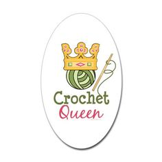 I'm so wearing a crown from now on when I crochet