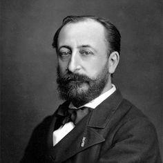 Composer Camille Saint-Saens, 1835-1921.
