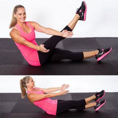 Cross Leg Sit-Up - Circuit Workout Routine: Get a Flat Stomach, Tight Butt, and Thin Thighs - Shape Magazine