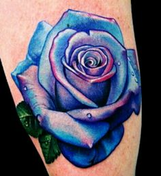 Blue Rose Tattoo Designs And Ideas-Blue Rose Tattoo Meanings And Pictures #rose_tattoo_color