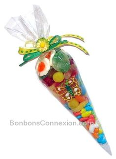 Easter candy cone - Pâques Cornet de bonbons   #eastercandycones #cornetsbonbonspaques