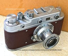 Zorki C Russian Leica camera. These were based on the early Leicas.  Why not check out our Facebook page: https://www.facebook.com/pages/Camera-Connections/1461506494125346 Everyone who likes our page between now and the end of October goes into the draw to win a vintage camera.
