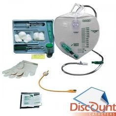 Bard / Rochester Medical - - Complete Care, Bardex I. Foley Tray with Drainage Bag, 16 Fr Catheter Bag, First Aid, Balloons, Tray, Father, Medical, Bags, Sunset, Places