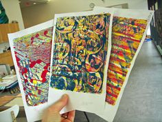 Prints made by Diana for our Possibilities in Print outreach program