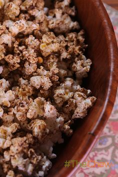 Pop up this sweet & salty Maple Spiced Popcorn snack for your next movie night. #TheChew