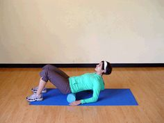 How to roll out your lower back with a foam roller. Feels sooooo good! | via @SparkPeople