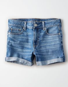 Shop Tomgirl Midi Shorts for Women at American Eagle to find your new favorite fit. Browse women's shorts online to find more styles, colors, and inclusive sizes. American Eagle Outfits, American Eagle Shorts, Denim Shorts Style, Men Shorts, Mens Outfitters, Eagle Outfitters, Urban Outfitters, Ae Jeans, Ripped Jeans
