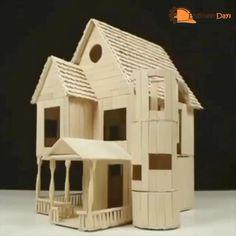 Diy Cardboard Furniture, Cardboard Box Crafts, Cardboard Box Houses, Cardboard City, Diy Crafts Hacks, Diy Home Crafts, Craft Stick Crafts, Tree House Plans, Doll House Plans