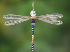 NEW Multi-Color Suncatcher Dragonfly - Choose Your Own Custom Colors - Gold or Silver Toned Small Dazzlefly