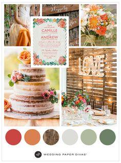 Orange and Green Rustic Wedding Ideas