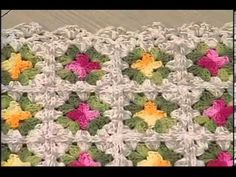 Tapete Barroco Crochê com Cristina Luriko Vitrine na TV - / Carpet Baroque Crochet with Cristina Luriko Vitrine on TV - Crochet Afghans, Crochet Books, Thread Crochet, Love Crochet, Crochet Granny, Crochet Motif, Easy Crochet, Crochet Flowers, Crochet Stitches