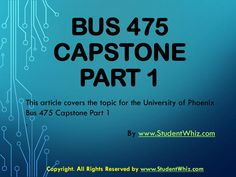 In the Bus 475 Capstone Part there will be different multiple choice questions that will be provided to the students to test their understanding. After it, the solutions are also provided to check the correctness. Final Examination, Organizational Goals, Levels Of Understanding, Business Studies, Final Exams, Multiple Choice, Week 5, Case Study, Finals
