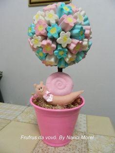 Marshmallow Flowers, Marshmallow Pops, Fairy Birthday Party, Felt Decorations, Baby Shark, Candy Colors, Tinkerbell, Alice, Maya