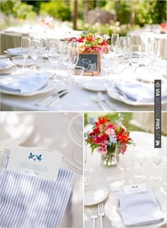 blue and red wedding ideas | VIA #WEDDINGPINS.NET