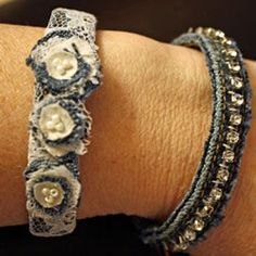 Denim Bracelets Made From Repurposed Jeans