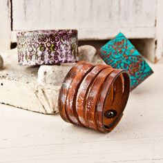 Wholesale Jewelry Lot Leather Cuffs Bracelets Wristbands by rainwheel, $70.00