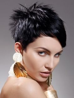 Very short layered haircuts for thick hair Awesome Short Hairstyles For Women With Thick Hair Celebrity Short Haircuts, Popular Short Hairstyles, Short Haircut Styles, Short Layered Haircuts, Short Hairstyles For Thick Hair, Haircut For Thick Hair, Short Hair With Layers, Short Hair Cuts For Women, Curly Hair Styles