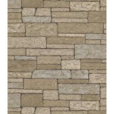 Brewster 8 in. W x 10 in. H Stone Wall Wallpaper Sample-145-41391SAM - The Home Depot