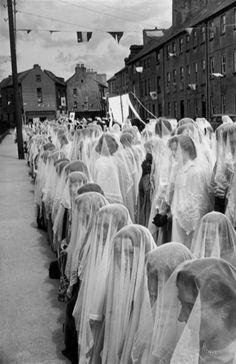 Corpus Christi procession, County Kerry Tralee, Ireland, 1952. S)