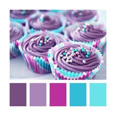 Colour Palettes - Purple Cupcakes    #erica_baby_girl_nursery_colors