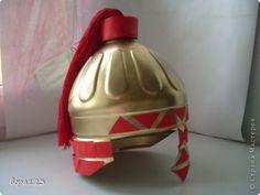 Игрушка Маски 23 февраля День защиты детей Новый год Моделирование конструирование шлем богатырский Бутылки пластиковые