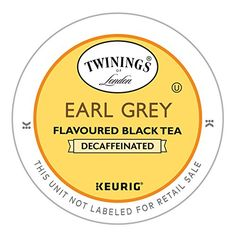 Twinings Earl Grey Decaf Tea, Keurig K-Cups, 24 Count ** See this great product. Decaf Tea, Twinings Tea, Harney And Sons Tea, Earl Gray, Keurig, Drinking Tea, Count