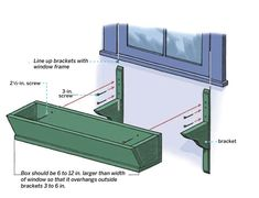 In this detailed guide, the pros at This Old House show you how to hang and fill a prefab window box. Fill it with flowers to brighten your home's exterior. Hanging Window Boxes, Wooden Window Boxes, Window Planter Boxes, Wooden Windows, Diy Flower Boxes, Window Box Flowers, Wooden Planters, Wooden Garden, Window Boxes