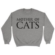 Mother Of Cats Sweatshirt - https://shirtified.co.uk/product/mother-cats-sweatshirt/