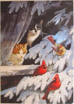 The Bird Watchers ~ Dream On! ~ By Persis Clayton Weirs~ Arty Jigsaw Puzzle~ The Bird Watchers~ via Leonisha from Flickr.
