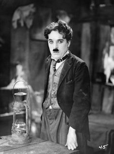 """Charles Chaplin in """"The Gold Rush"""" (1925)"""