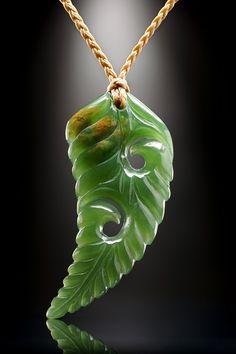 Flower Jade Fern Pendant from Ewan Parker