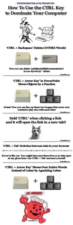 How to use the CTRL key to dominate your computer.