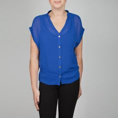 Cap Sleeve Blouse Blue now featured on Fab.