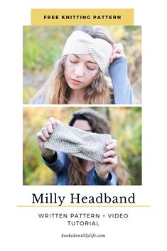 Milly Twisted Headband - Free Knitting Pattern — Hooked On Tilly - - I'd love to say I came up with this design completely on my own, but alas this is not true. Easy Knitting, Knitting For Beginners, Knitting Patterns Free, Hat Patterns, Knitting Needles, Knitted Headband Free Pattern, Crochet Headbands, Twisted Headband, Braid Headband