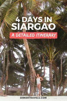 Going to Siargao soon? Here's a four-day sample itinerary and budget breakdown for you! Travel Goals, Travel Advice, Travel Guides, Travel Checklist, Budget Travel, Philippines Travel Guide, Siargao Island, Local Tour, Vacation Resorts