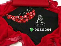Embroidery Neck Designs, Hand Embroidery, Embroidery Materials, Kurti Patterns, Dress Neck Designs, Salwar Suits, Muslim, Collars, Neckline