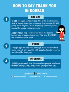Korean Language Infographics – Page 3 – Learn Basic Korean Vocabulary & Phrases with Dom & Hyo Yes In Korean, Thank You In Korean, Learn Basic Korean, How To Speak Korean, Korean Words Learning, Korean Language Learning, Learning Korean For Beginners, Informal Words, Learn Korean Alphabet