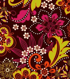 Keepsake Calico Fabric- Floral Brown & keepsake calico fabric at Joann.com