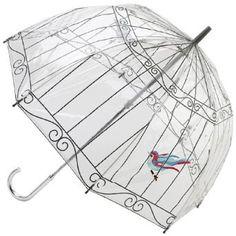 Bird in a Birdcage Umbrella by Lulu Guinness.  Totally cute!
