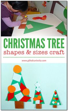 Christmas tree shapes & sizes craft: A simple Christmas-themed activity to help your children learn shapes and sizes    Gift of Curiosity