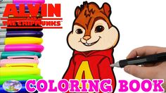 Alvin And The Chipmunks Coloring Book Alvin Nick Jr Colors Surprise Egg ...