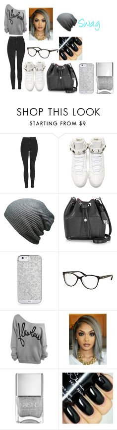 """""""Swag"""" by jaden-norman ❤ liked on Polyvore featuring Topshop, Givenchy, Michael Kors and Bulgari"""