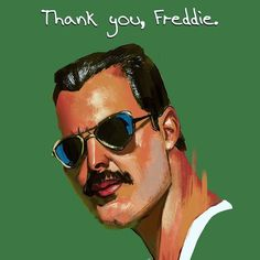 Freddie thank you.  #sketch_dailies #sketch_daily #painting #queen #freddiemercury