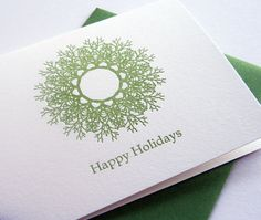 Happy Holidays by SteelPetalPress #letterpress