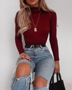 Valentine's Day Outfit Ideas Ecemella Day Ecemella Ideas Modefemme Valentinstag Outfit Ideen Ecemella Tag Ecemella Ideen Mode Femme - Besondere Tag Ideen Winter Fashion Outfits, Mode Outfits, Cute Casual Outfits, Pretty Outfits, Stylish Outfits, Fall Outfits, Sweater Outfits, Outfits With Turtlenecks, Teen Fashion Winter