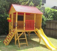 Cubby House Oscar Kids Outdoor Fort Playhouse Timber Wooden. More #kidsoutdoorplayhouse #outdoorplayhouseideas